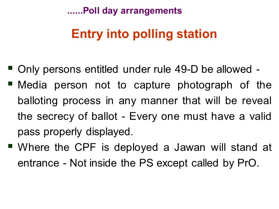 Before Commencement of Poll  PrO to demonstrate the EVM.