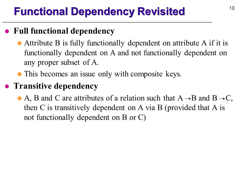 11 Second Normal Form l Dependency diagram for Project PNo PName ENo EName JCode ChgHrHrs