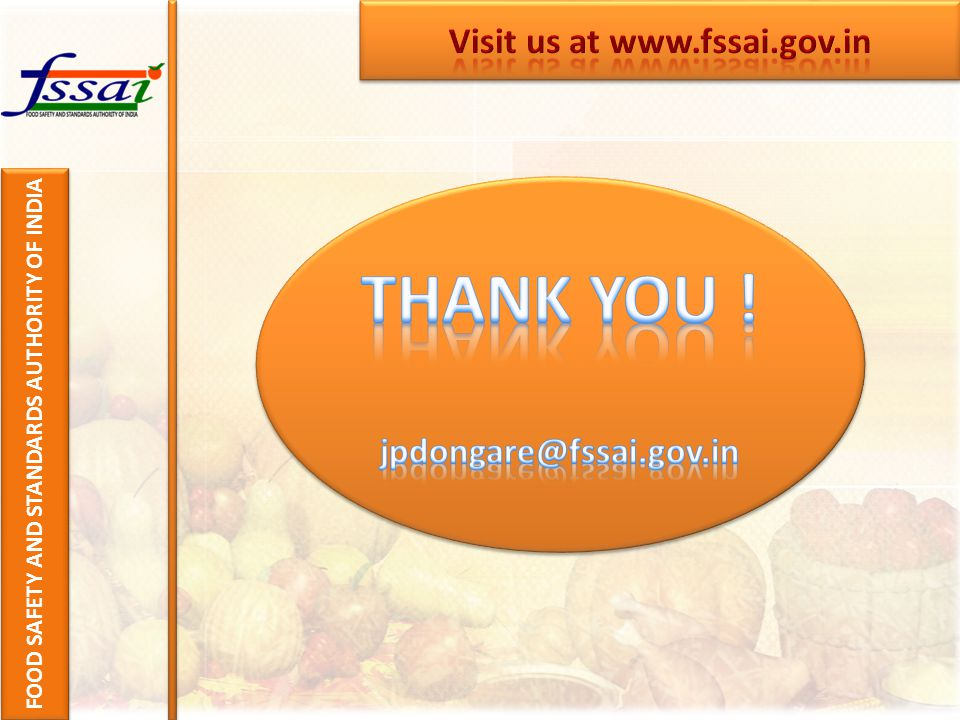 FOOD SAFETY AND STANDARDS AUTHORITY OF INDIA
