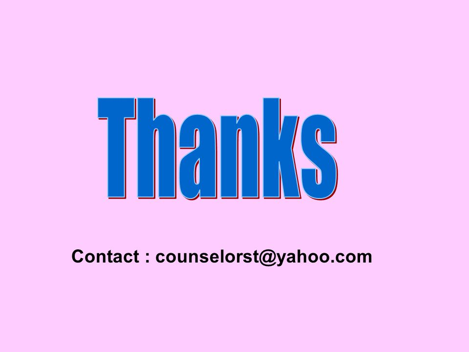 Contact : counselorst@yahoo.com