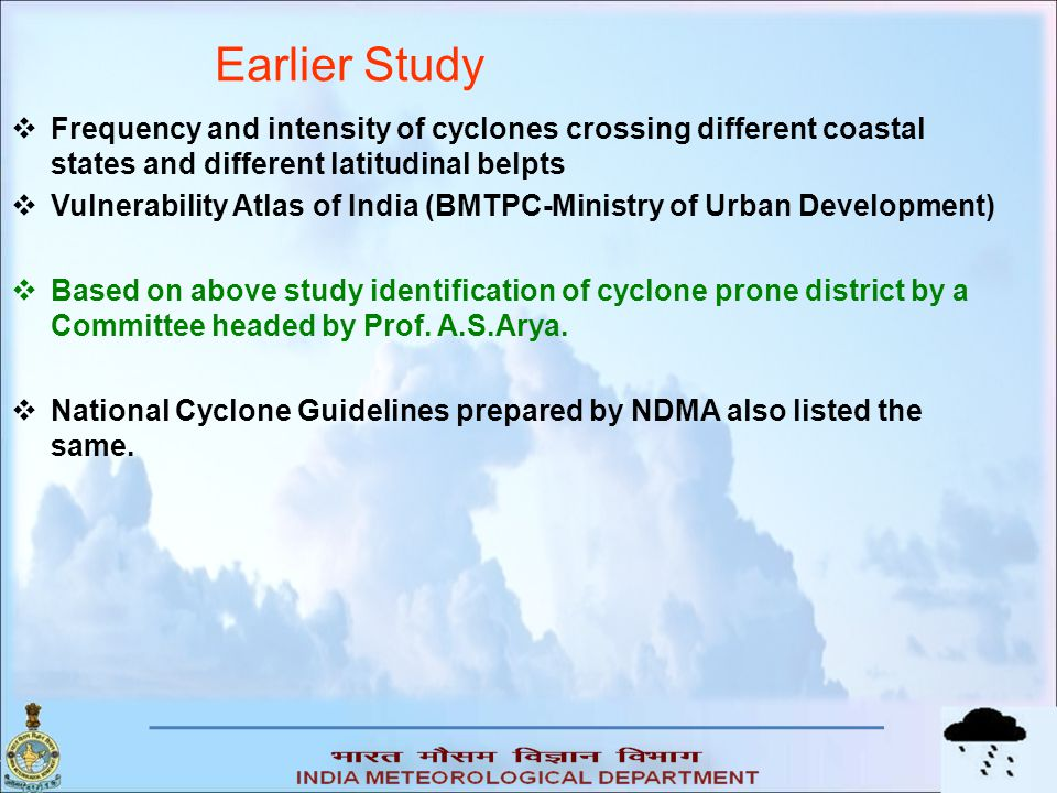(c) Maximum wind (mps) over the district (d) Probable maximum storm surge over the district Surge heightRating Upto 2.03 2.1-4.05 4.1-6.07 >610 CategoryRating ≥5010 44-497 39-445 <393 No.