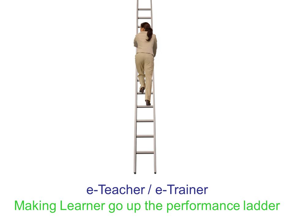 e-Teacher / e-Trainer Making Learner go up the performance ladder