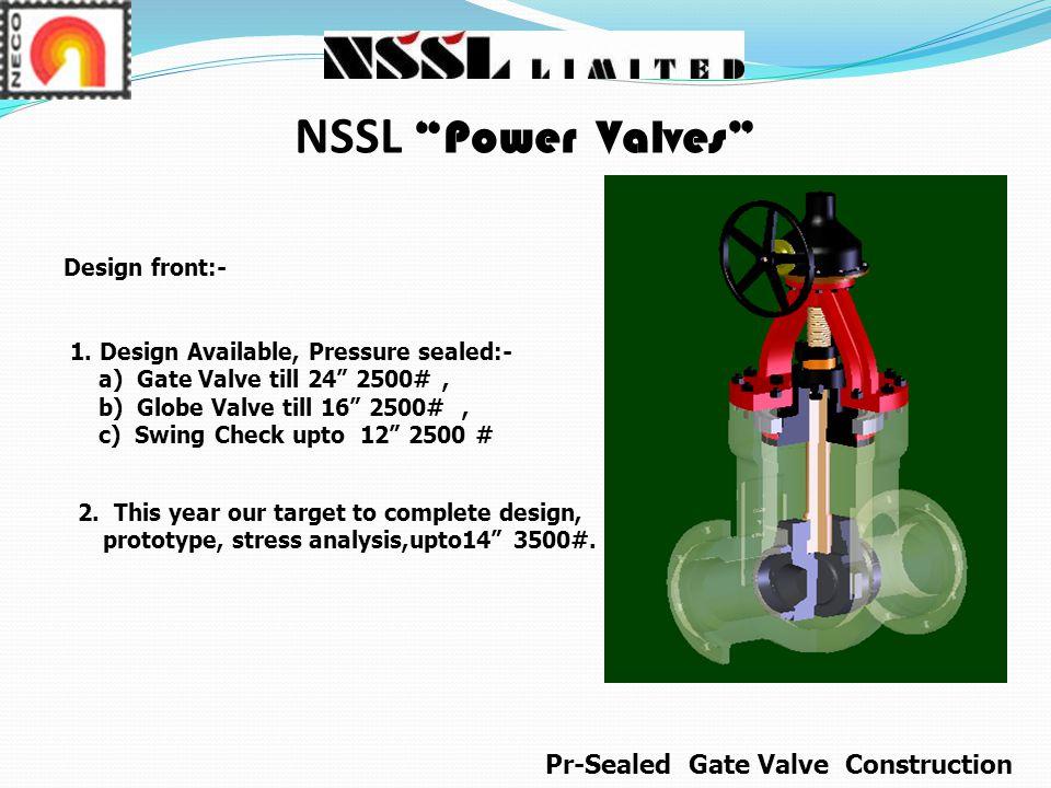 NSSL Power Valves Design front:- 1.