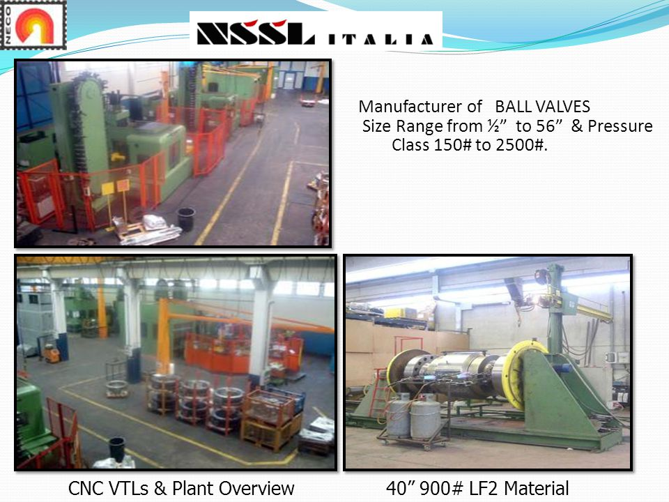 Manufacturer of BALL VALVES Size Range from ½ to 56 & Pressure Class 150# to 2500#.