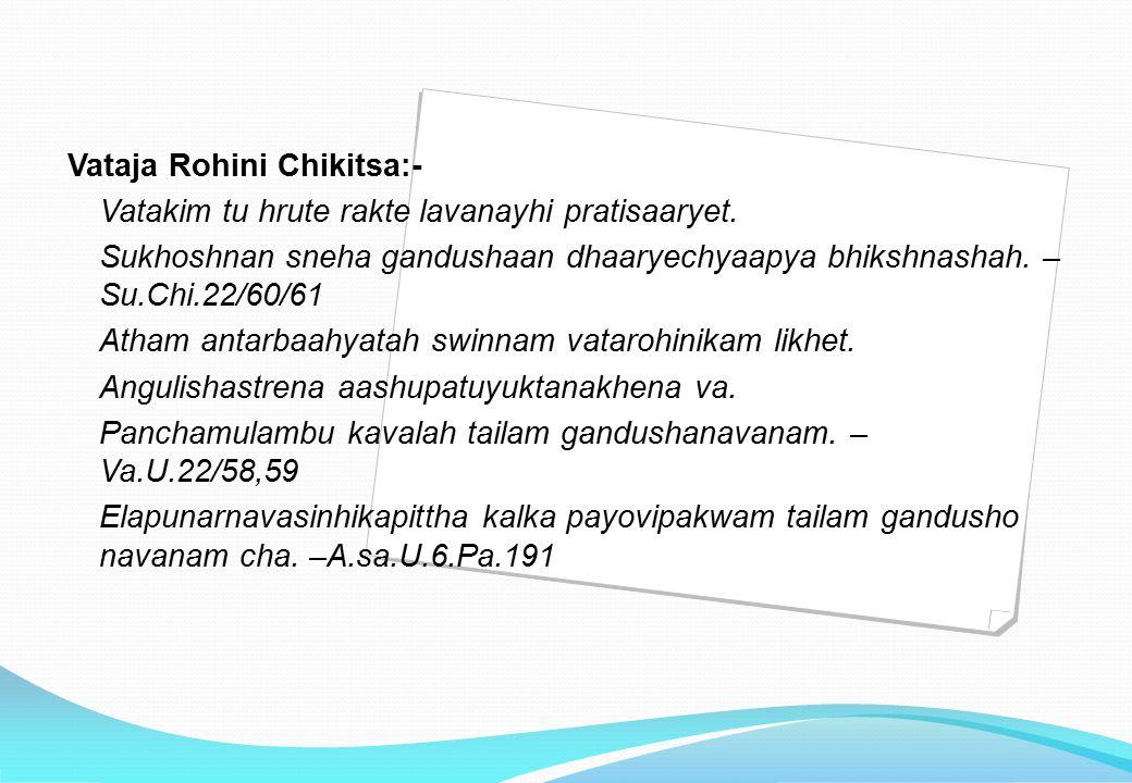 Kaphaja Rohini Kaphen Picchila Panduh – v.a.u.21/44 Kaphaja rohini is guru, sthira & does not form paka soon, picchila & panduvarni.