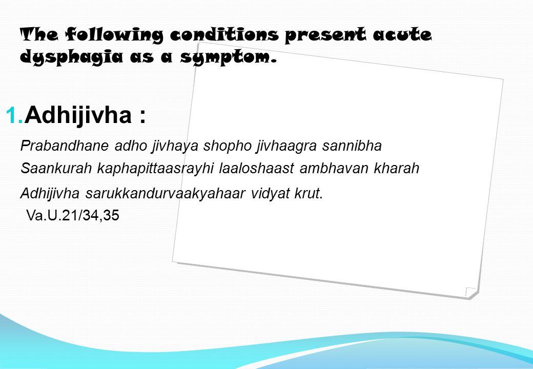 ACUTE DYSPHAGIA & ODYNOPHAGIA By rushika gaonkar(intern 10-11.)