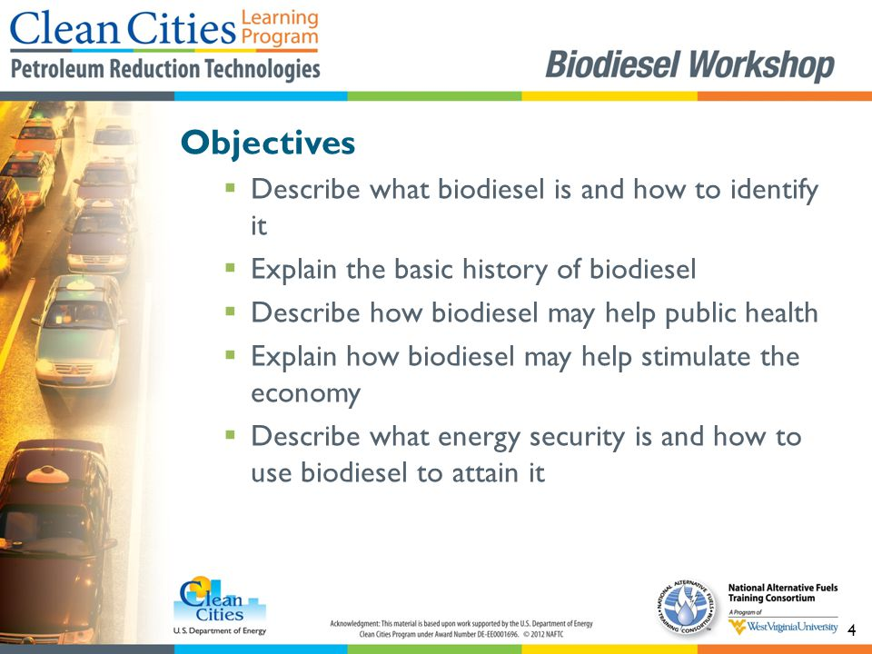 15 Figure 6: Biodiesel and diesel facts and figures. Source: NAFTC.