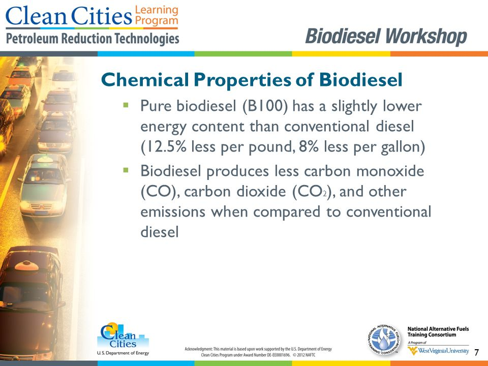 68  Biodiesel vehicle maintenance is nearly identical to conventional diesel vehicle maintenance  Fuel filters will need to be replaced after conversion Biodiesel Vehicle Maintenance