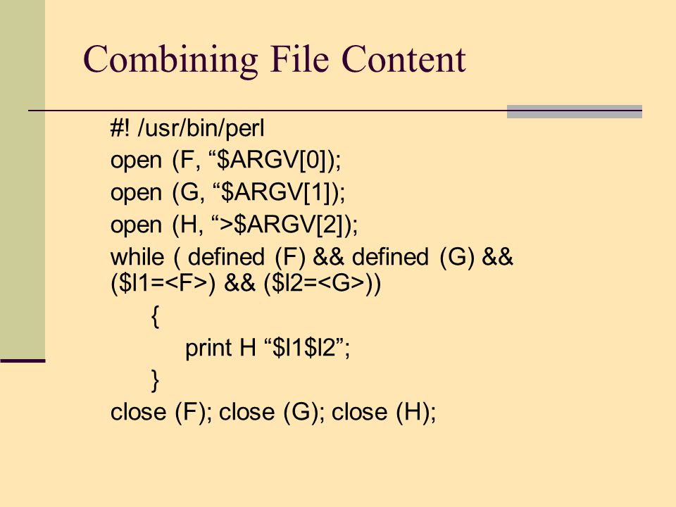 Combining File Content #.