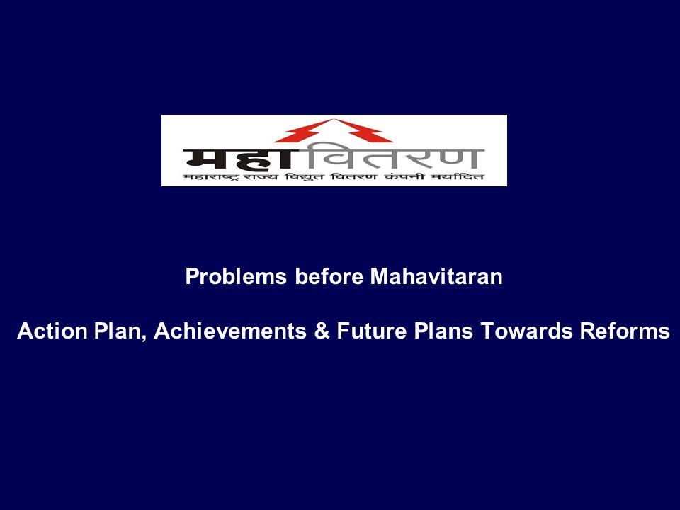 Problems before Mahavitaran Action Plan, Achievements & Future Plans Towards Reforms