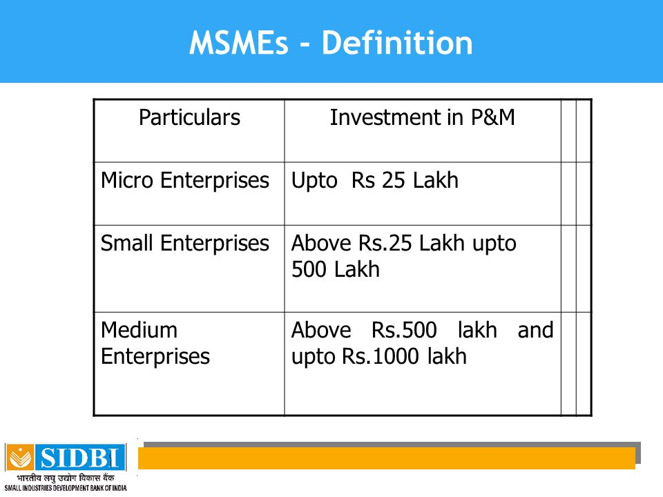Services Sector under MSMEs  Services sector brought under the ambit of MSMEs as per MSMED Act.