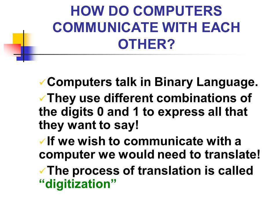COMPUTING – HOW COMPUTERS PERFORM TASKS.