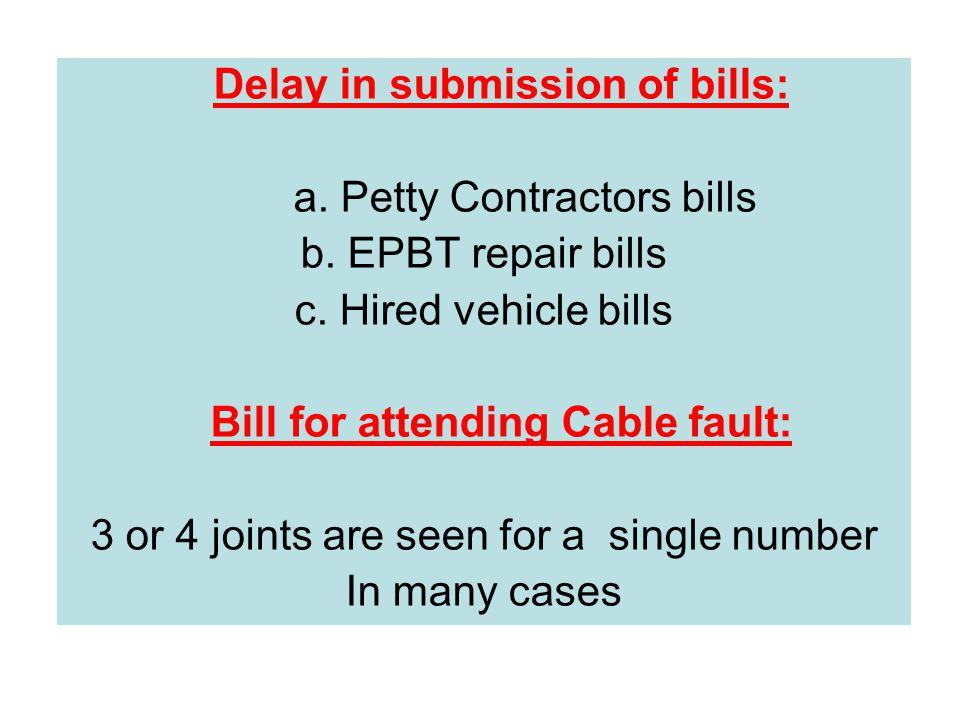 INCOME TAX : a.Petty Contractors bills. b.
