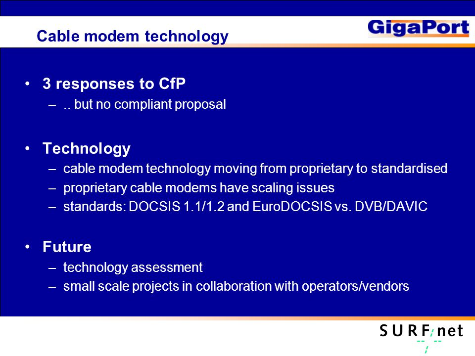 Cable modem technology 3 responses to CfP –..