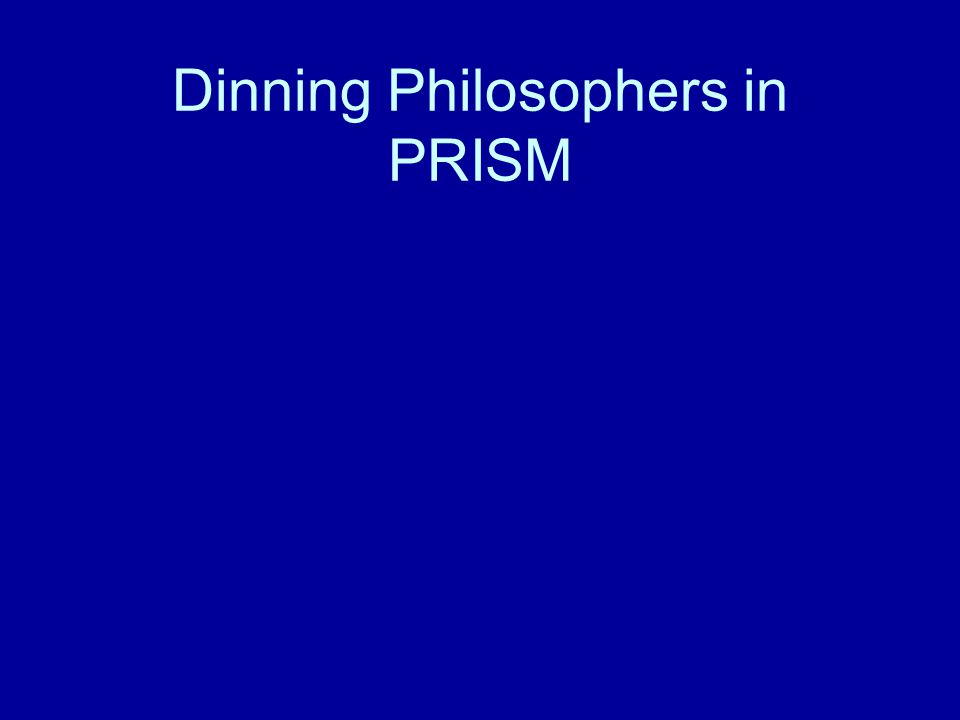 Dinning Philosophers in PRISM
