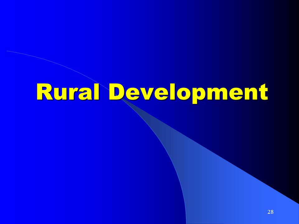 28 Rural Development