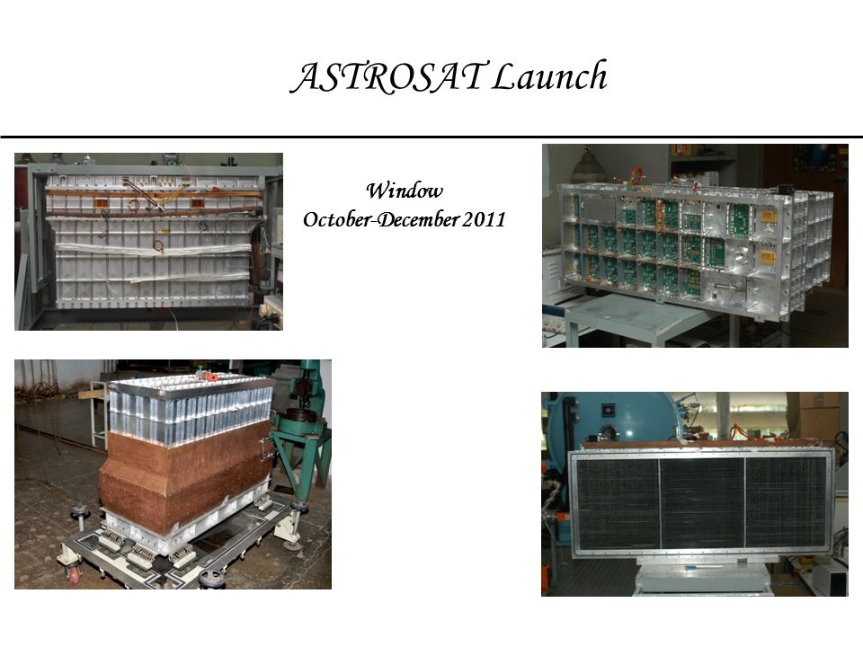 ASTROSAT Launch Window October-December 2011