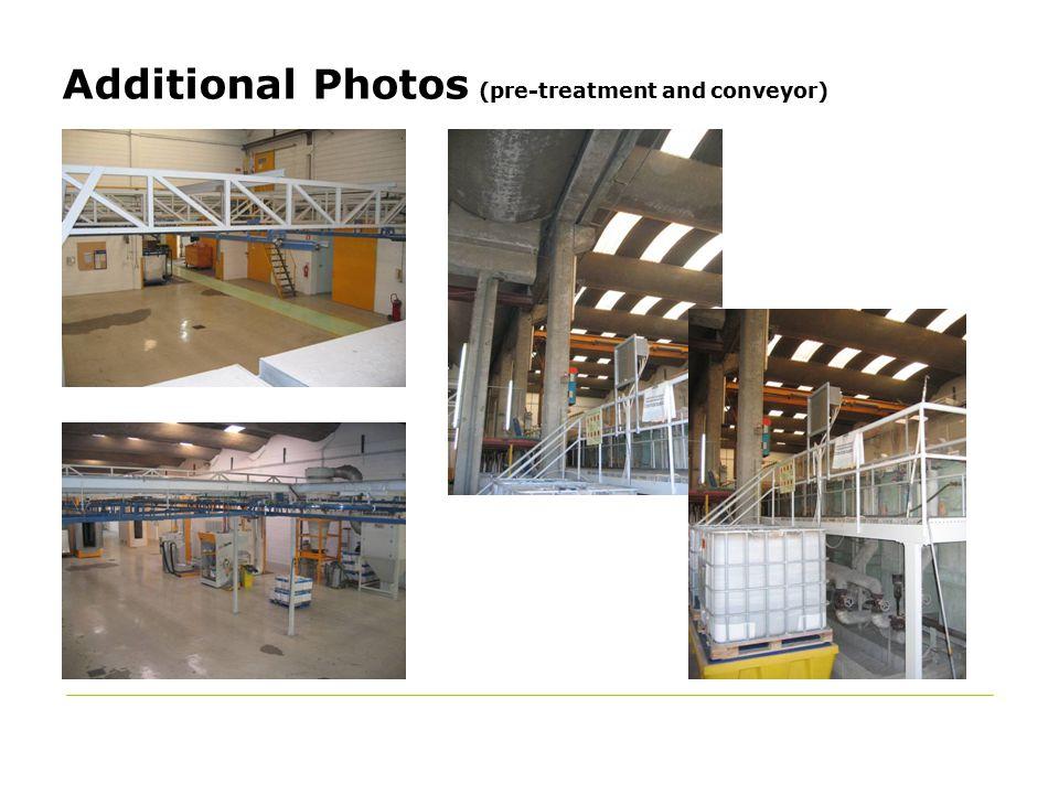 Additional Photos (pre-treatment and conveyor)