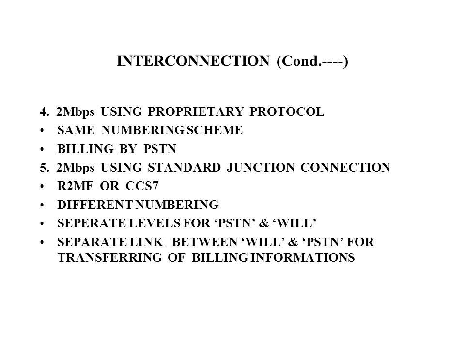 INTERCONNECTION (Cond.----) 4.