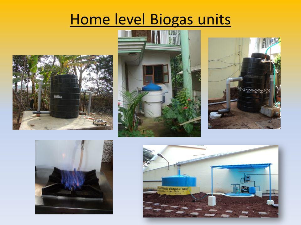 Home level Biogas units