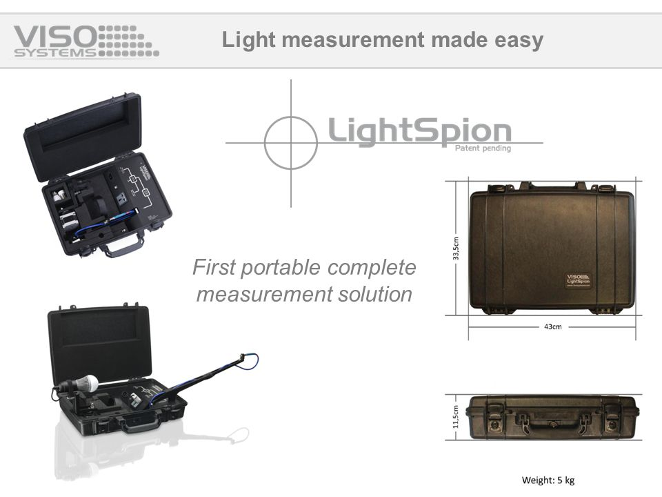 Light measurement made easy First portable complete measurement solution