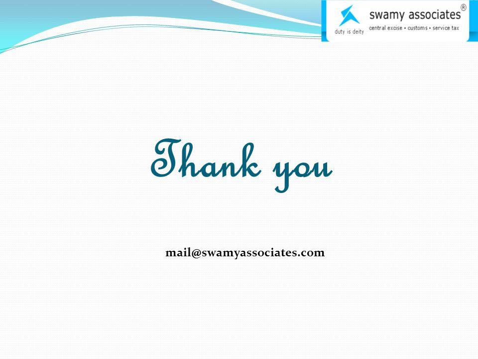 Thank you mail@swamyassociates.com