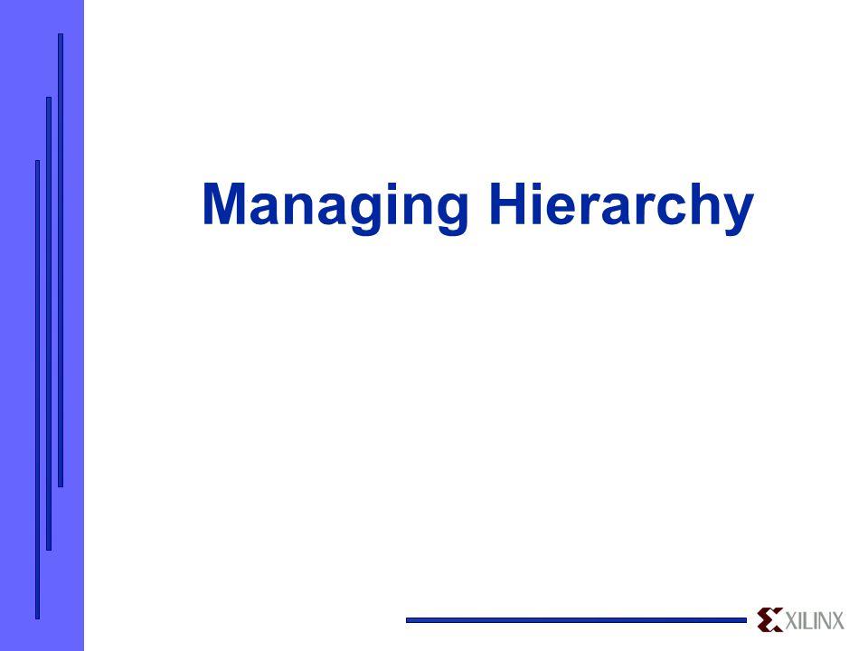 Managing Hierarchy