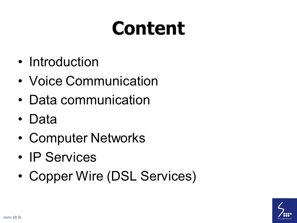 93 Core Network summary Voice Circuit Switching Voice – Circuit Switching Data – Packet Switching www.slt.lk 93