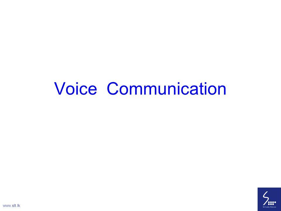 17 Voice Signal Telephone Channel 0 – 4 kHz Analog Signal Sound Energy Electric Energy Speaker Mic www.slt.lk