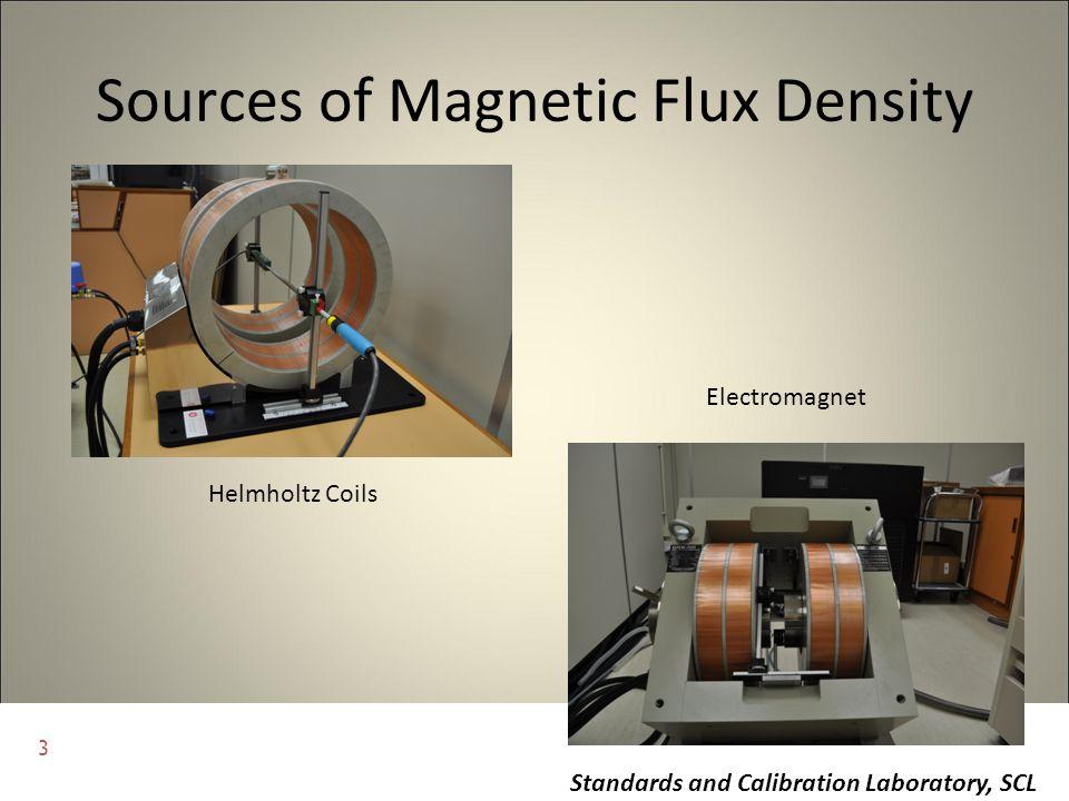 3 Standards and Calibration Laboratory, SCL Sources of Magnetic Flux Density Helmholtz Coils Electromagnet
