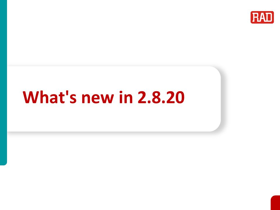 What s new in 2.8.20