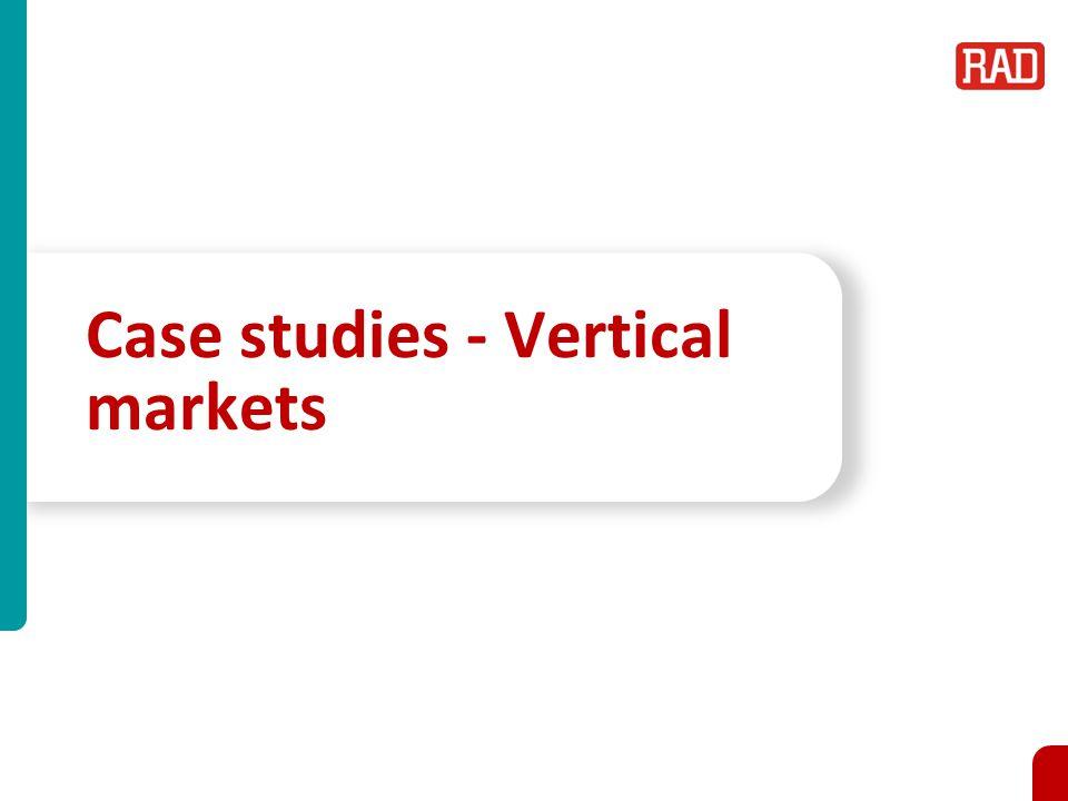 Case studies - Vertical markets