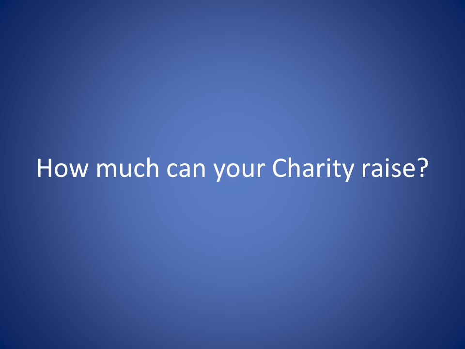 How much can your Charity raise?