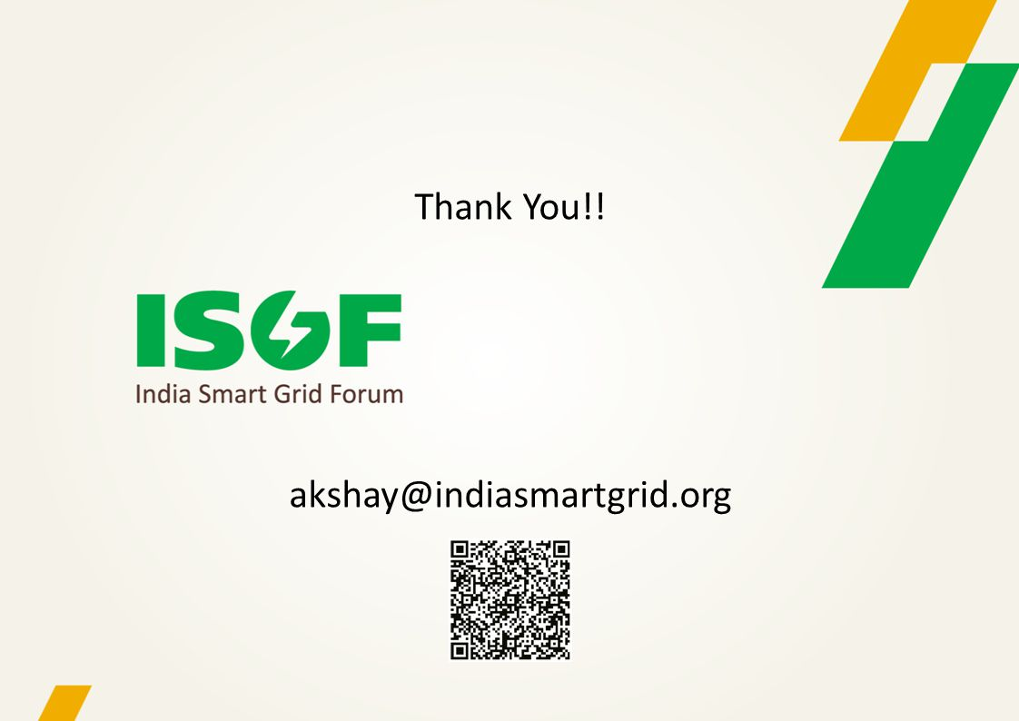 Thank You!! akshay@indiasmartgrid.org