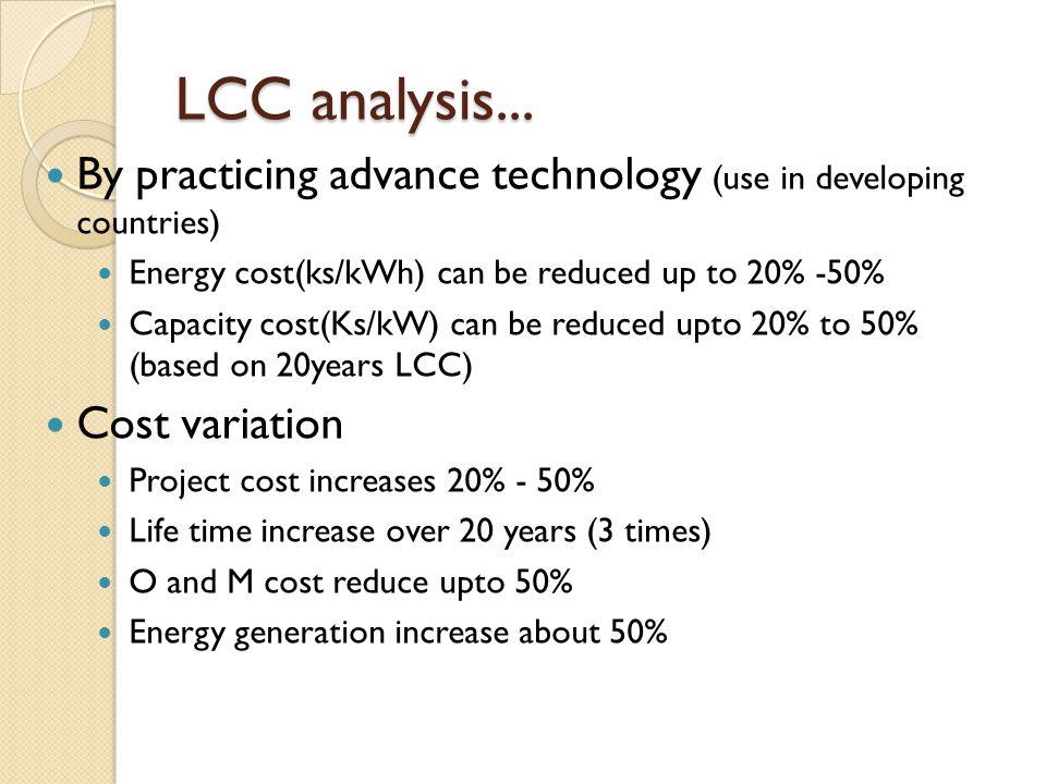 LCC analysis...