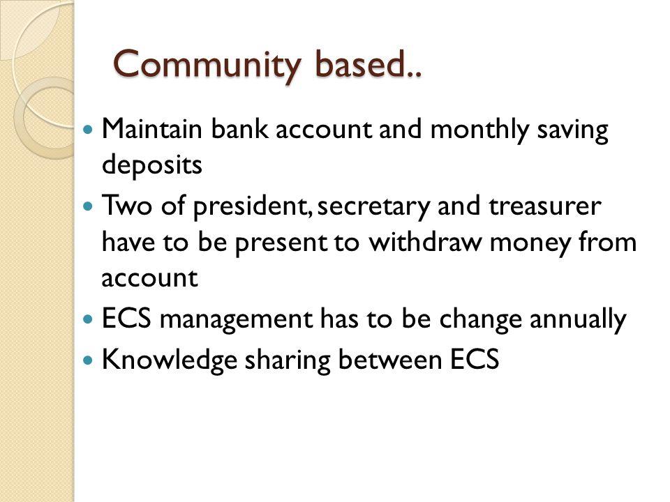 Community based..