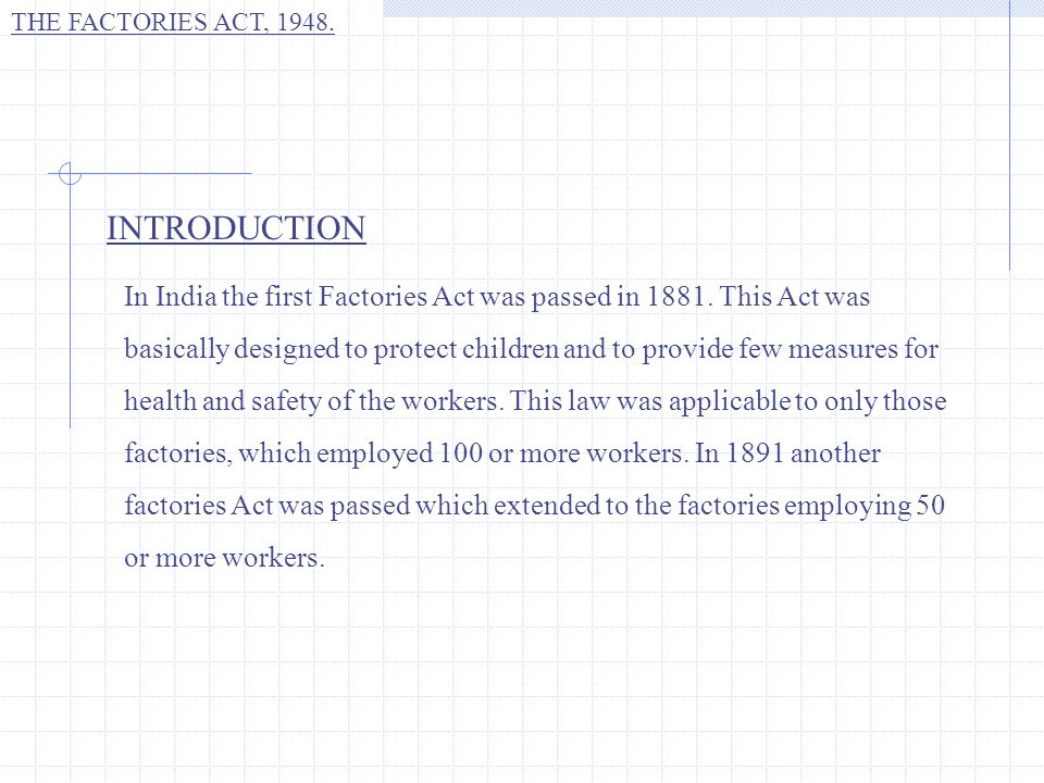 THE FACTORIES ACT, 1948. Thank You. Shriya Karve.