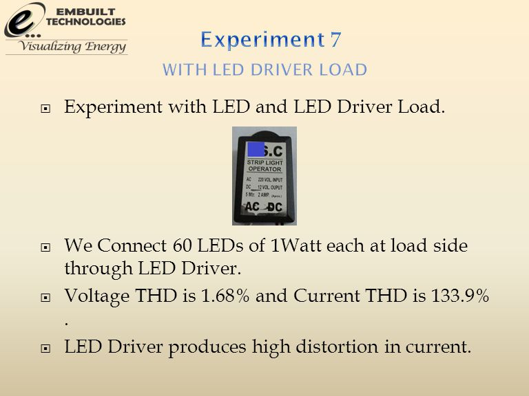  Experiment with LED and LED Driver Load.