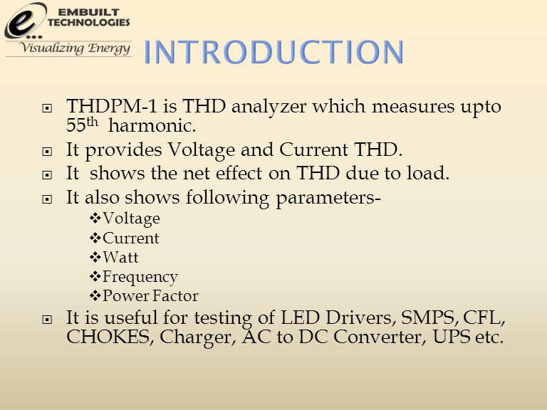 THDPM-1 is THD analyzer which measures upto 55 th harmonic.