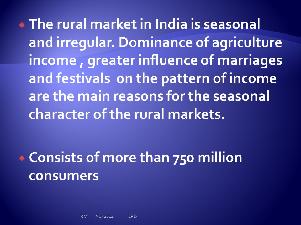  All rural consumers do not share a common buying behavior.
