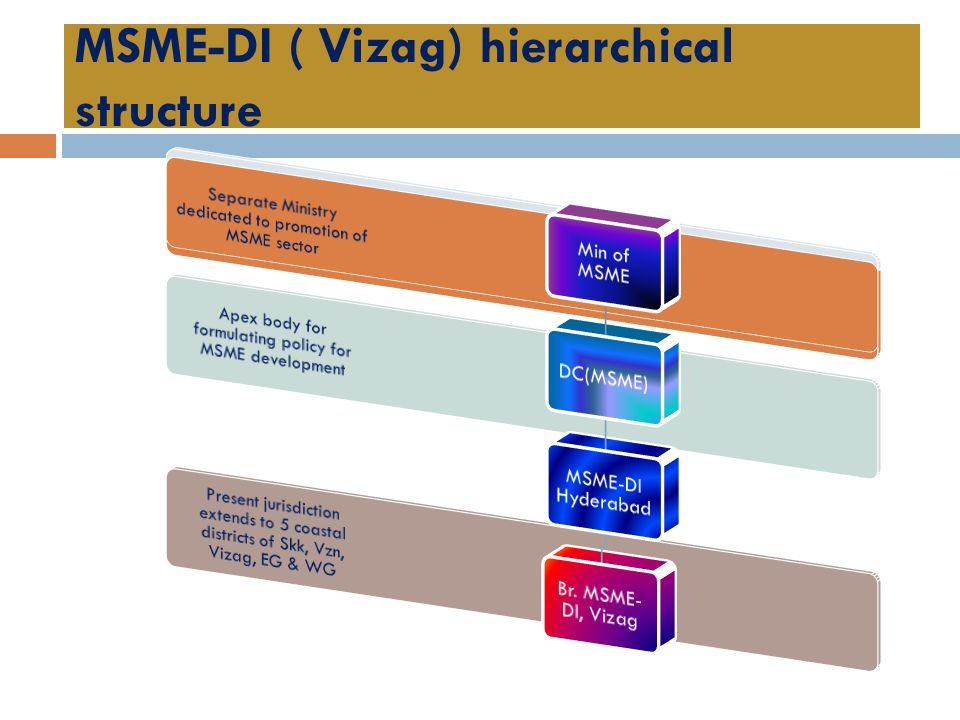 MSME-DI ( Vizag) hierarchical structure