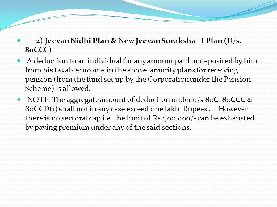 2) Jeevan Nidhi Plan & New Jeevan Suraksha - I Plan (U/s.