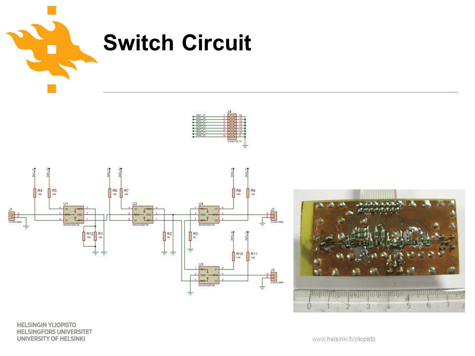 www.helsinki.fi/yliopisto Switch Circuit