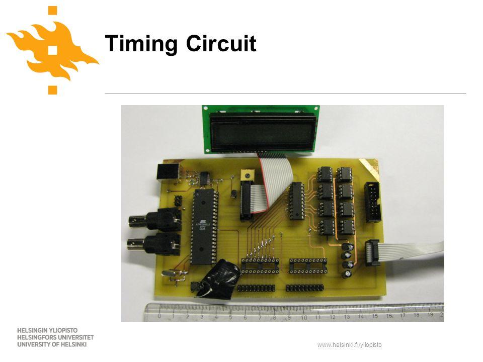 www.helsinki.fi/yliopisto Timing Circuit