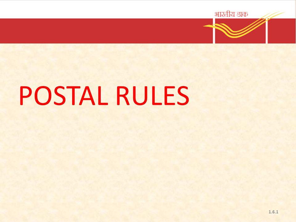 POSTAL RULES 1.6.1