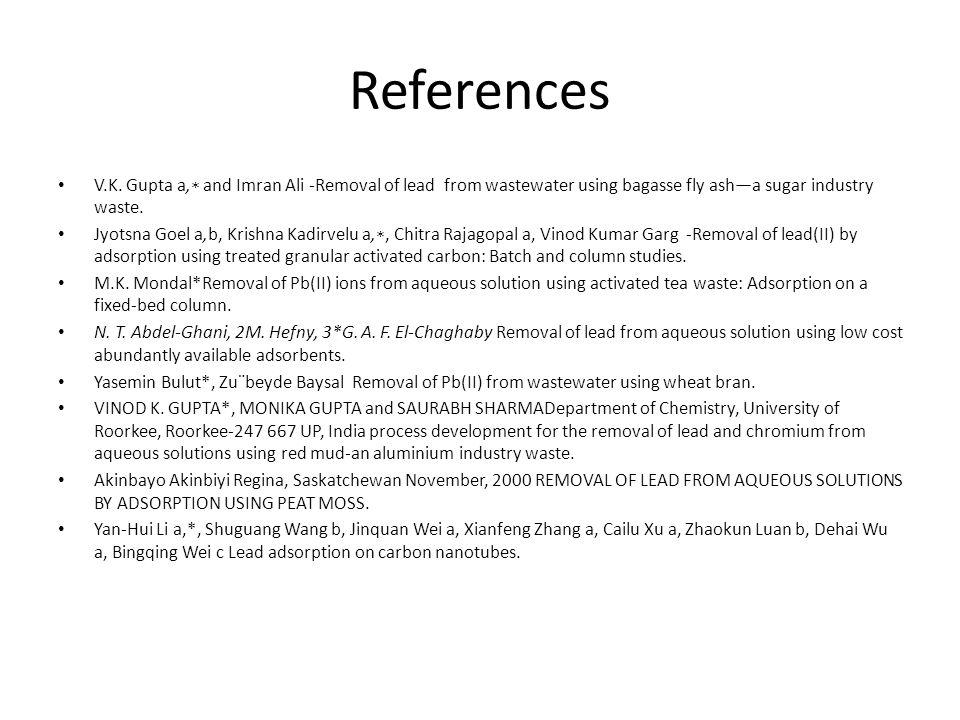 References V.K.