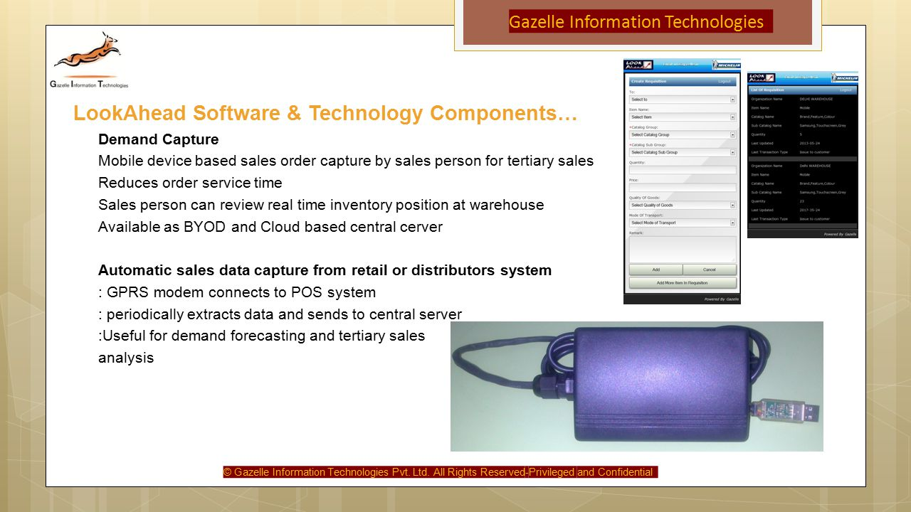 Gazelle Information Technologies © Gazelle Information Technologies Pvt.