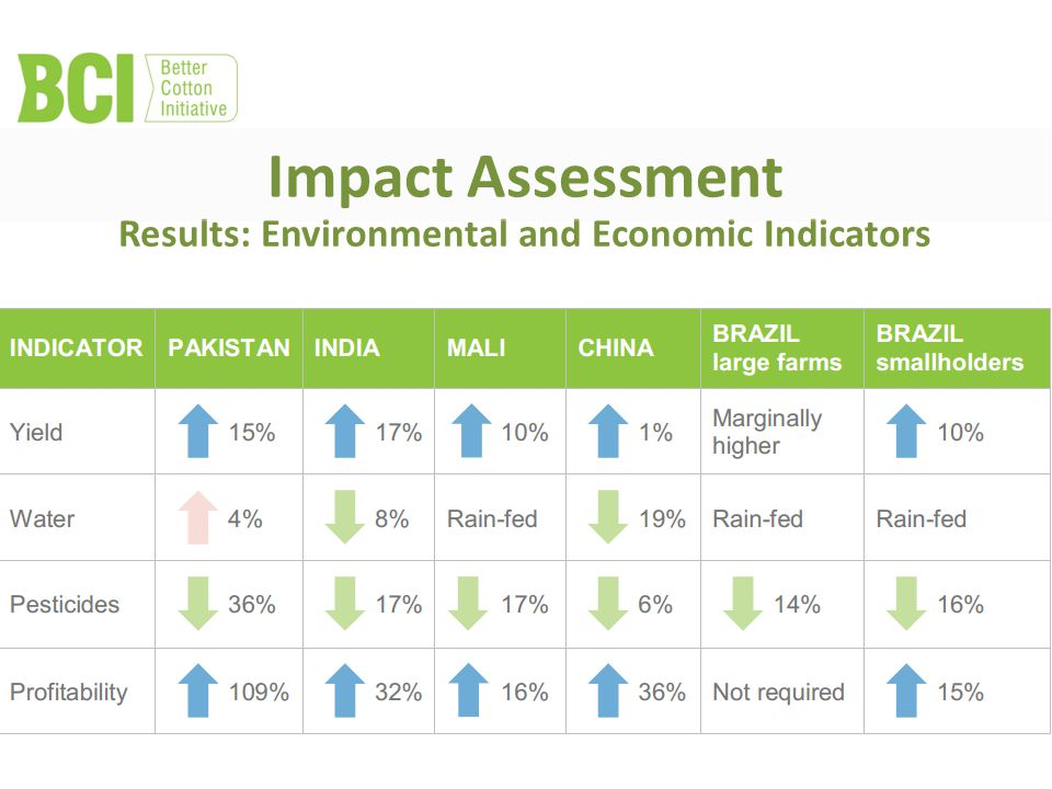 Results: Environmental and Economic Indicators Impact Assessment