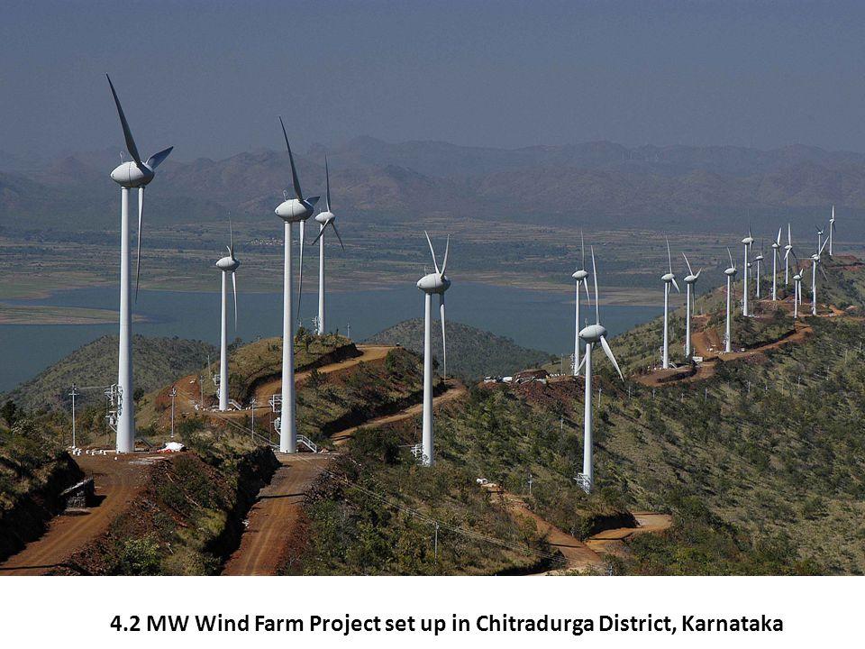 4.2 MW Wind Farm Project set up in Chitradurga District, Karnataka