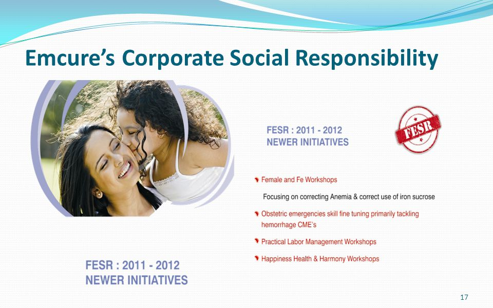 Emcure's Corporate Social Responsibility 17